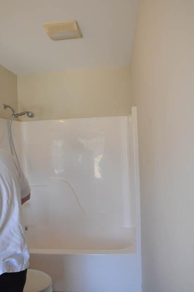 Bathroom re do on a dime for Design on a dime small bathroom
