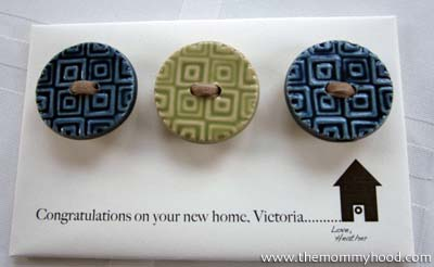 Button Craft Housewarming Gift Idea