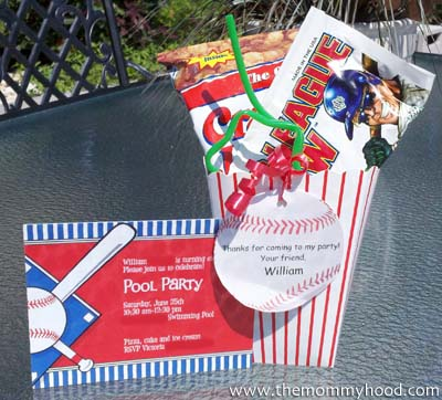 » Boys Baseball Party Invitation and Party Favor Ideas