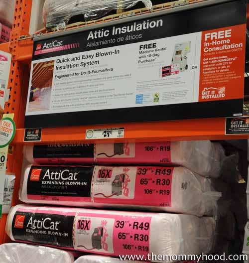 home depot insulation machine rental