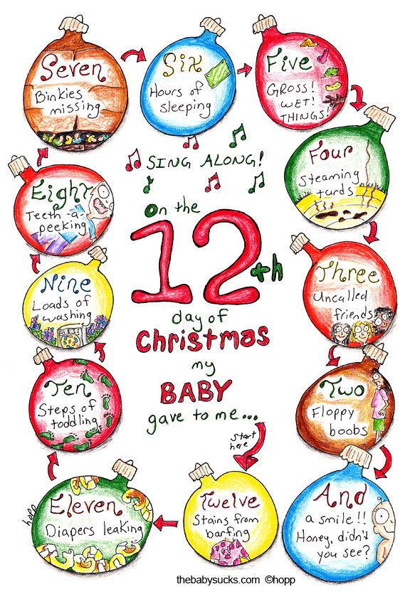 On The 12th Day Of Christmas.12 Days Of Christmas Baby Photos Thecannonball Org