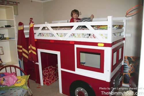 diy firetruck bunk bed builttwo grandpas