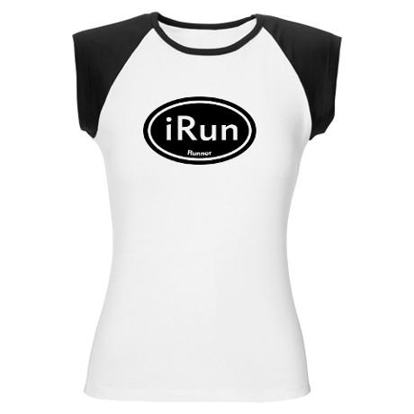 irun_black_oval_womens_cap_sleeve_tshirt